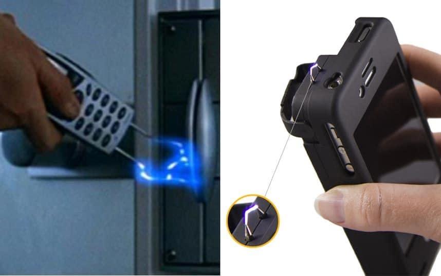 Мобильный телефон со встроенным электрошокером