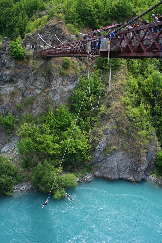 Подвесной мост через реку Каварау