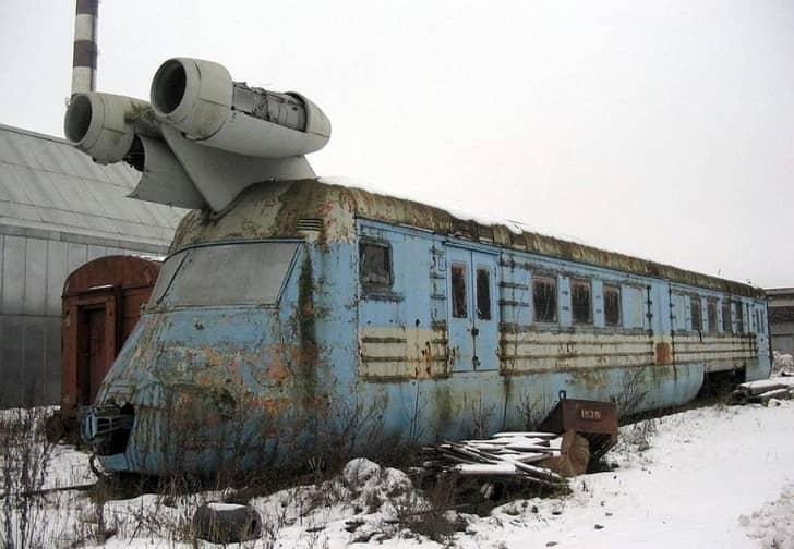 советский реактивный поезд