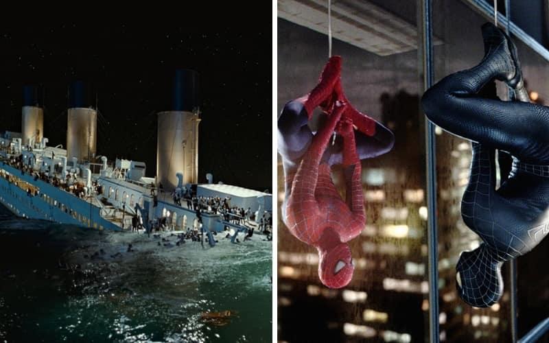 6, 5 Титаник (1997), Человек-паук 3: Враг в отражении (2007)