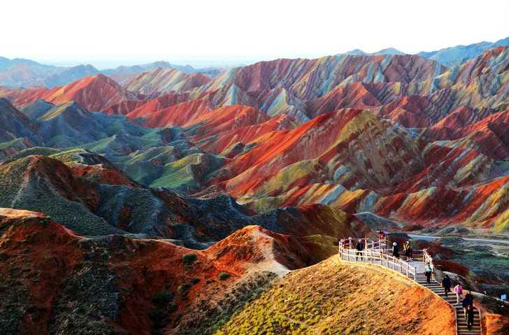 Китайские Радужные горы (Чжанъе Данься)