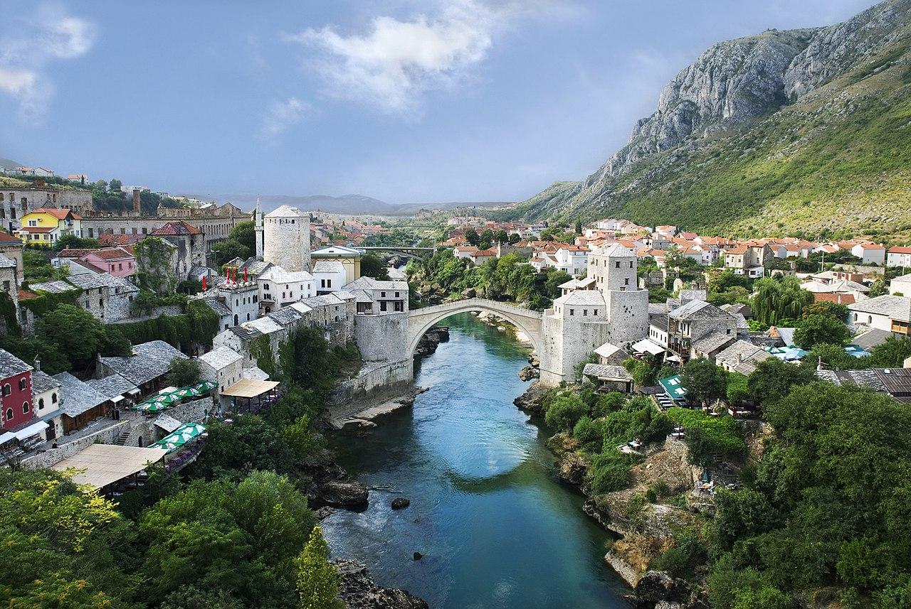 Панорама старого Мостара, Босния и Герцеговина