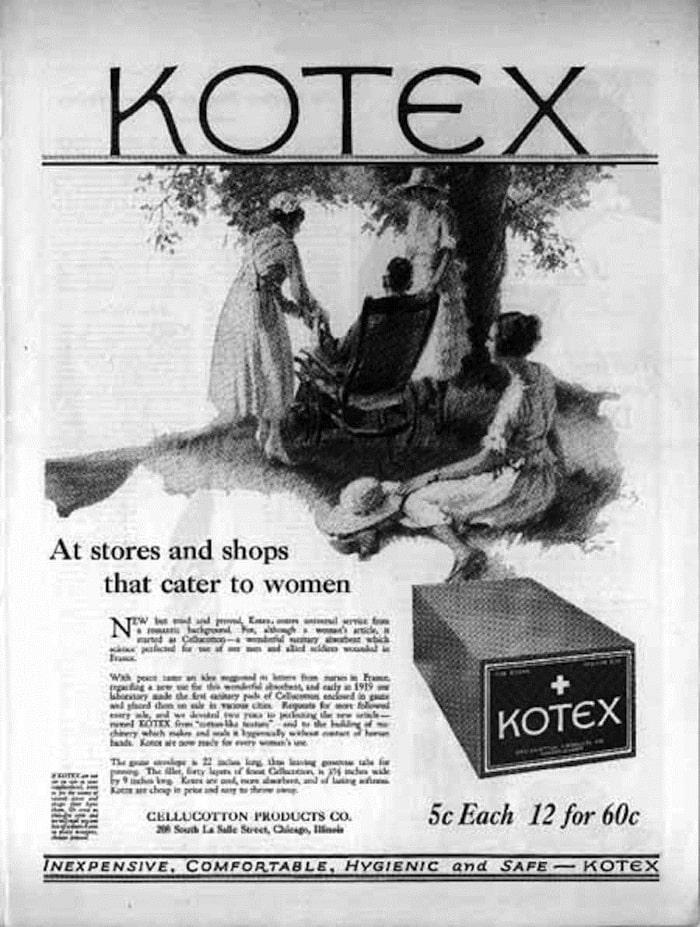 Первая реклама Kotex
