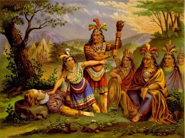 Покахонтас почти не общалась с Джоном Смитом