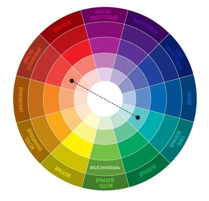 Комплиментарное сочетание цвета