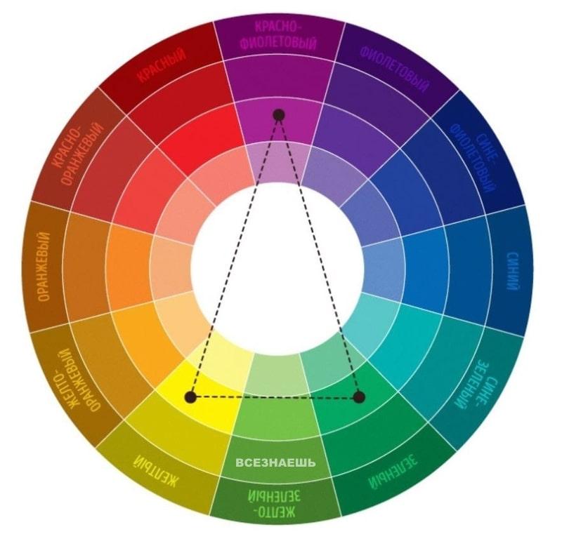 Раздельно-комплиментарное цветовое сочетание