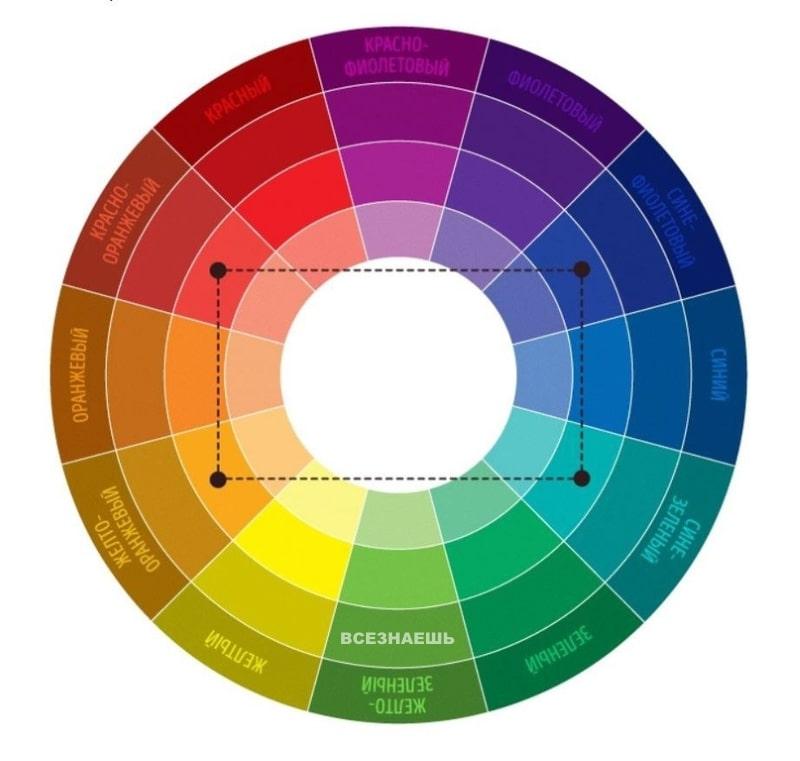 Сочетание цвета «Тетрада»