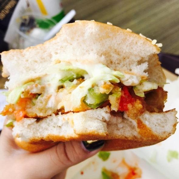 вегетарианский хрустящий бургер
