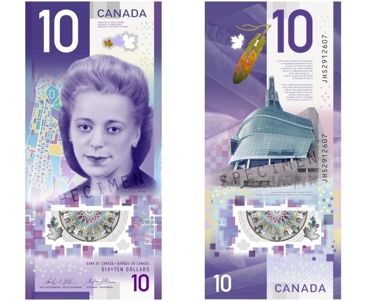 Canada's 10 Dollar