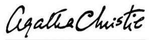 Подпись Агаты Кристи