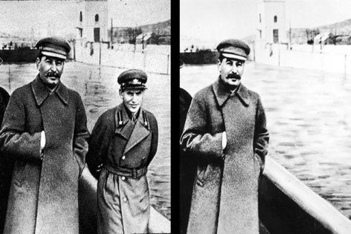Иосиф Сталин использовал «Photoshop»