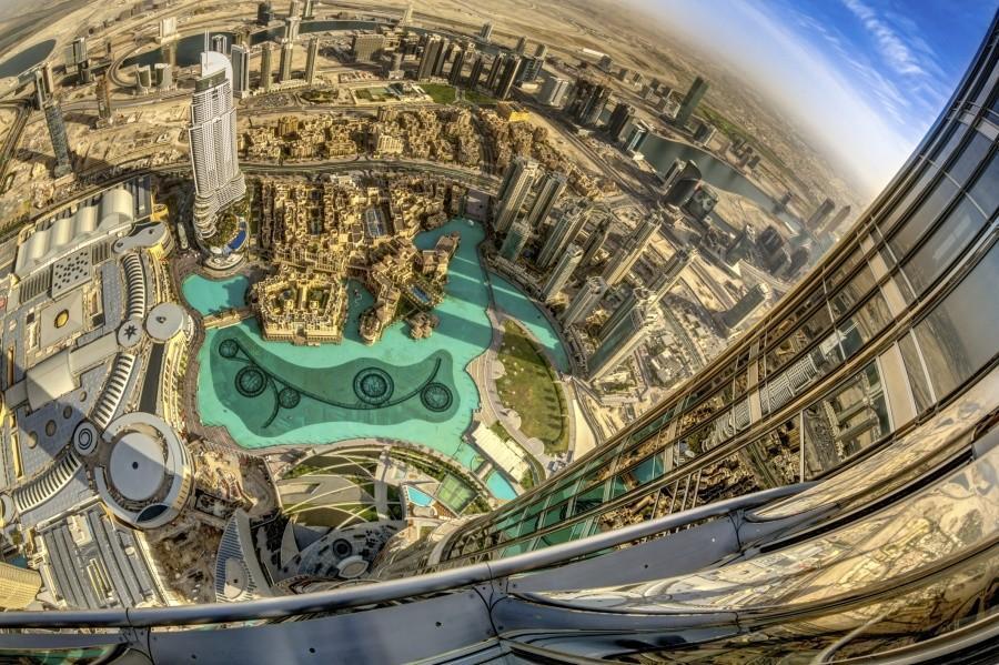 Смотровая площадка Бурдж Халифа, Дубай.