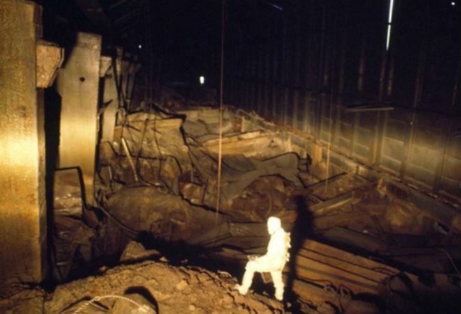внутри чернобыльского саркофага