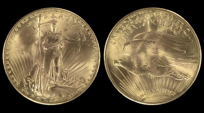 20 долларов с двойным орлом, 1933 год