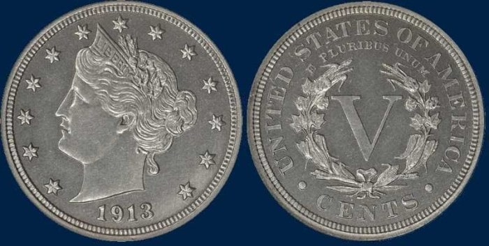 5 центов с изображением Свободы, 1913 год
