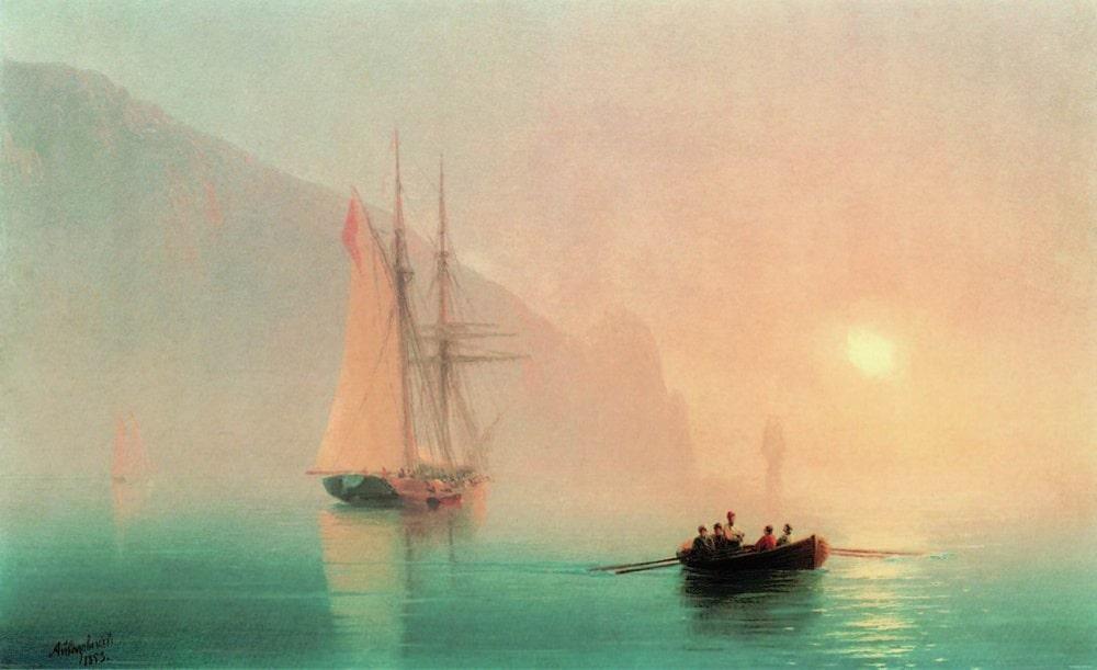 Аю-Даг в туманный день, 1853 г.
