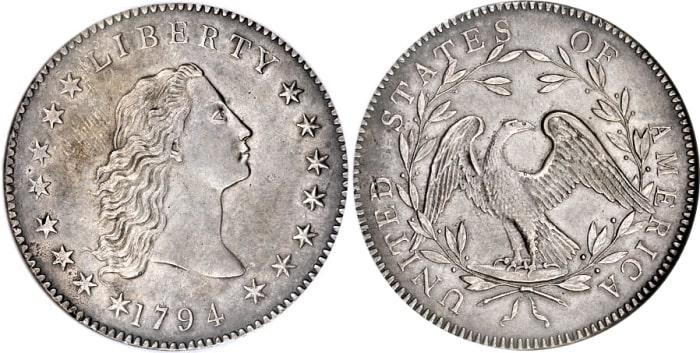 Доллар «Струящиеся волосы», 1794 год