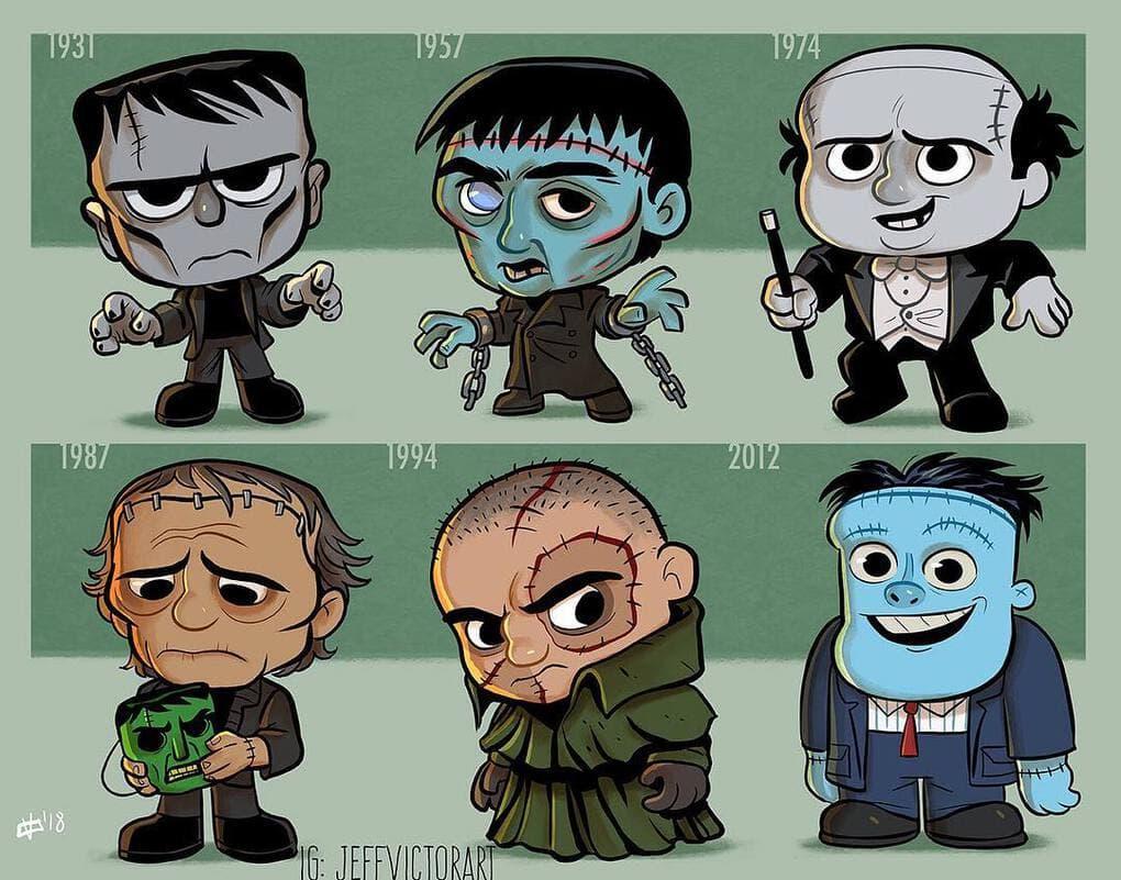 Эволюция чудовищ Франкенштейна