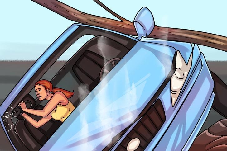 Как разбить стекло машины при аварии