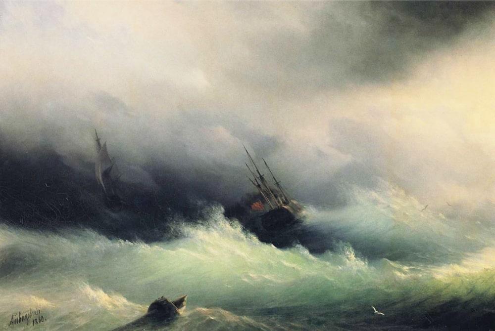 Корабли в бурю, 1860 г.-