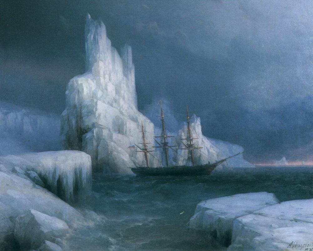 Ледяные горы в Антарктиде, 1870 г.