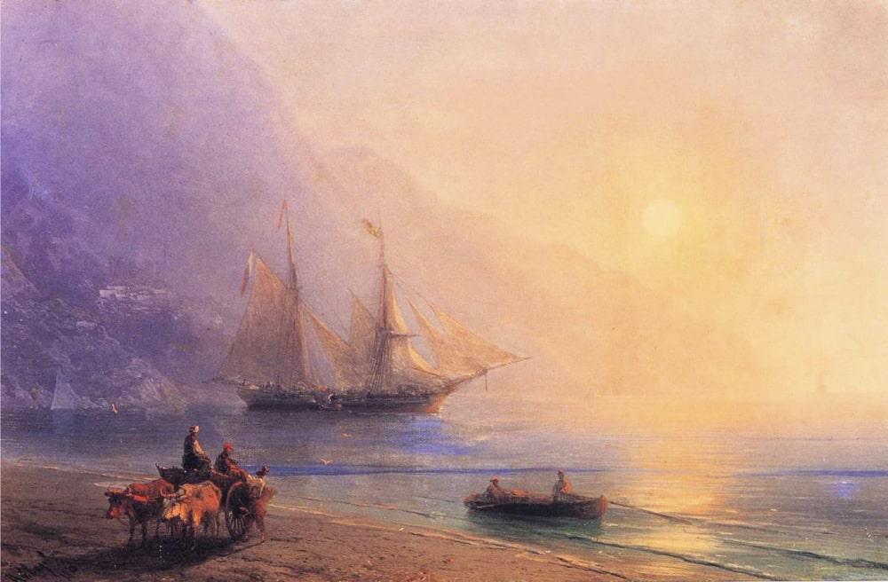 На берегу, 1878 г