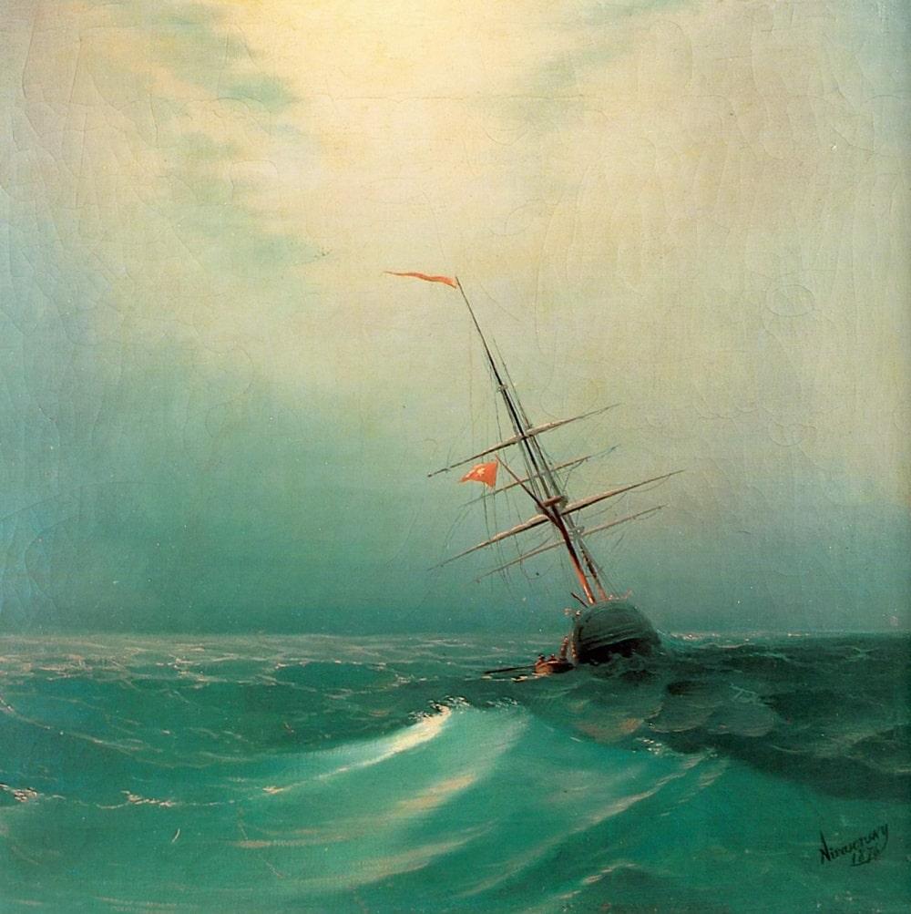 Ночь. Голубая волна, 1876 г.