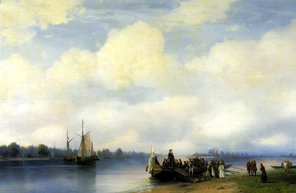 Приезд Петра I на Неву, 1853 г.