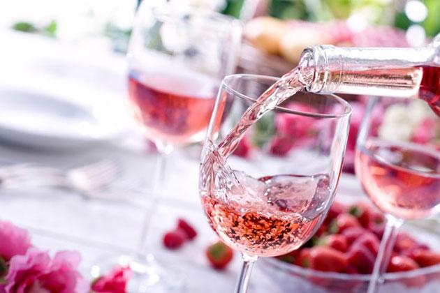Розовое шампанское