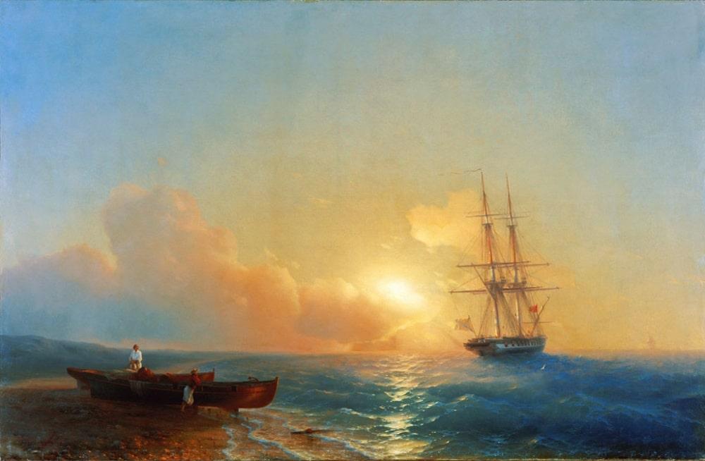 Рыбаки на берегу моря, 1852 г.