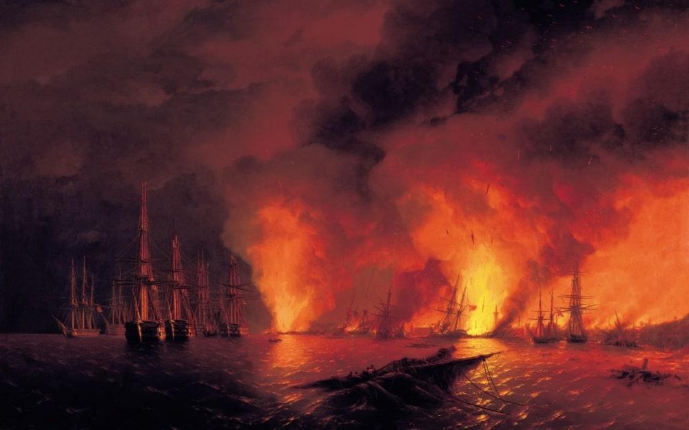 Синопский бой 18 ноября 1853г. Ночь после боя, 1853 г