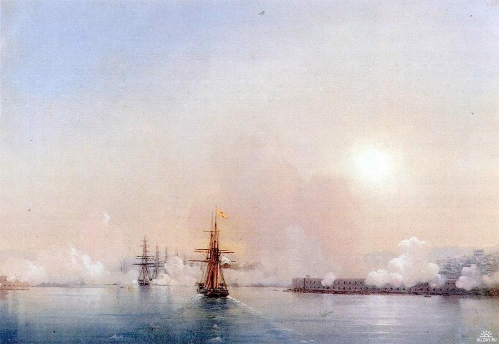 Вход в Севастопольскую бухту, 1852 г.
