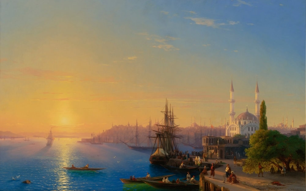 Вид Константинополя и Босфорского залива, 1856 г