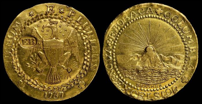 Золотой дублон Брашера, 1787 год