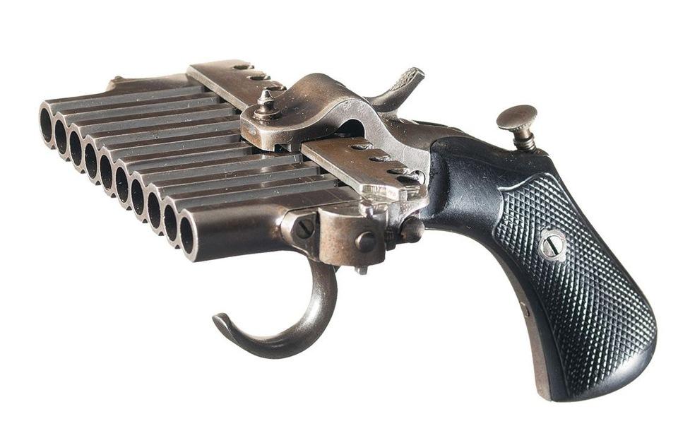 Французский 10 - ствольный пистолет пеппербокс