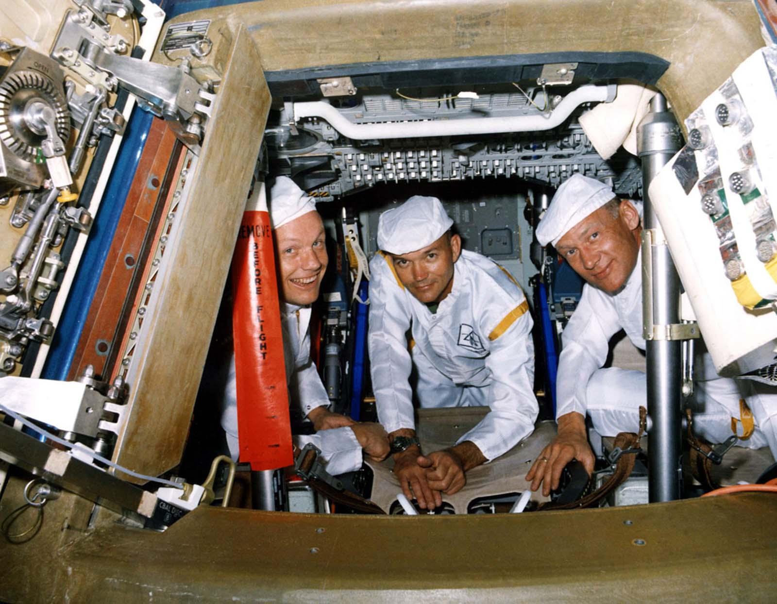 Члены экипажа «Аполлона-11»-