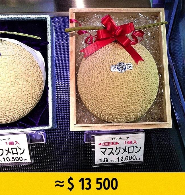 Дыня Yubari дорогие фрукты
