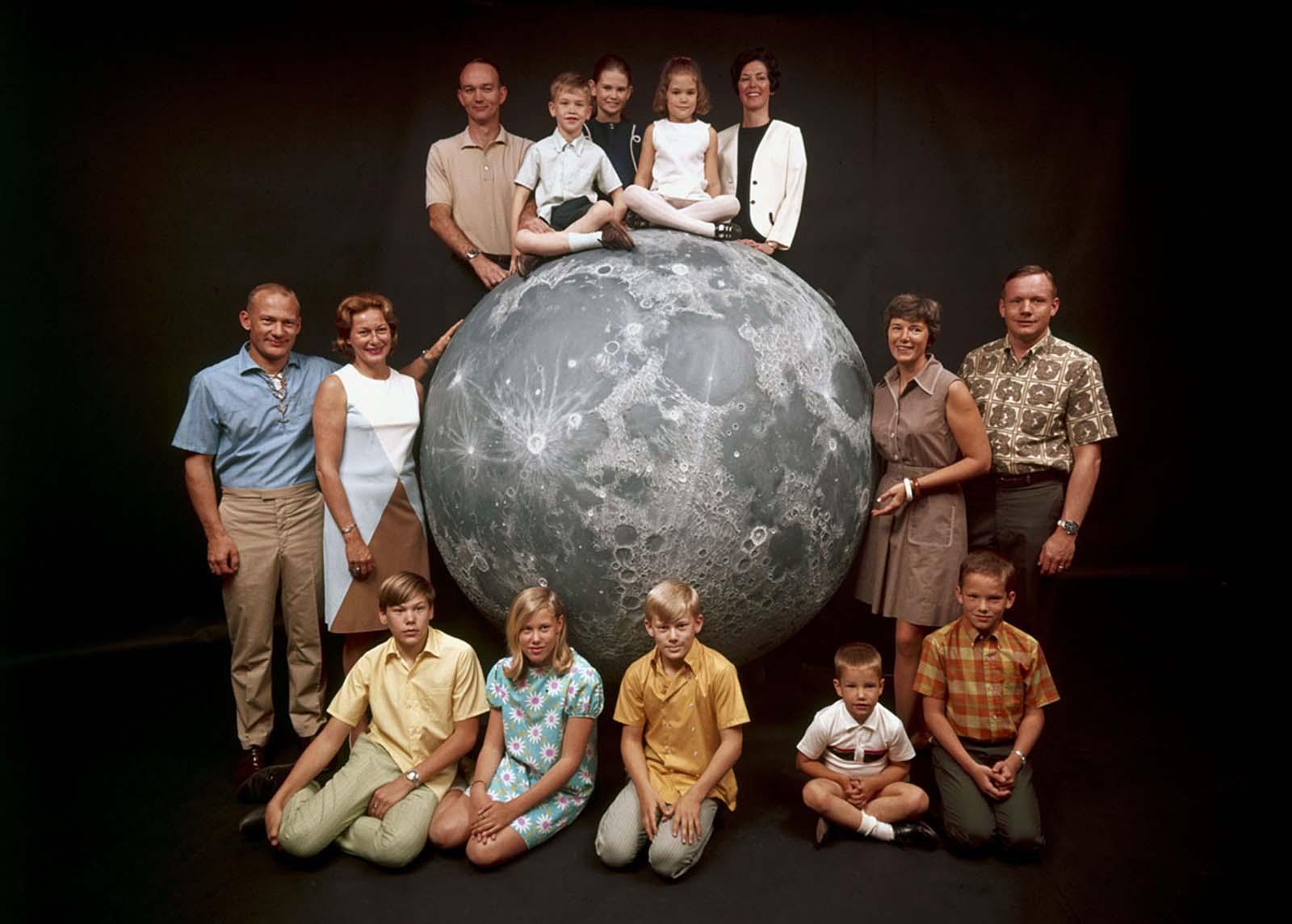 Групповой портрет астронавтов НАСА «Аполлон-11»-