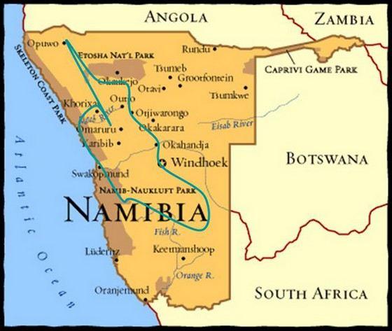 Намибия одна из самых малонаселенных стран Африки