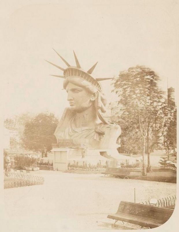 Редкие кадры со строительства статуи Свободы