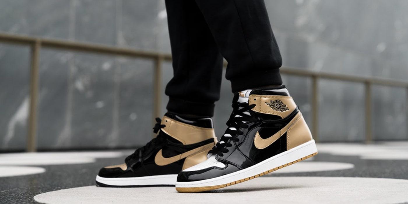 10. Air Jordan I Black and Gold