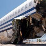 Краш-тест самолета Boeing 727 в пустыне (Видео)