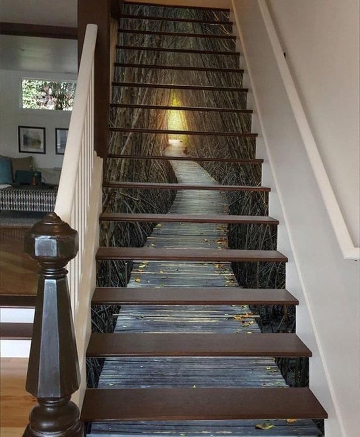 Лестница с оптической иллюзией