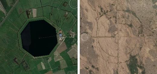 Необычные места на Земле, найденные с помощью Google Maps