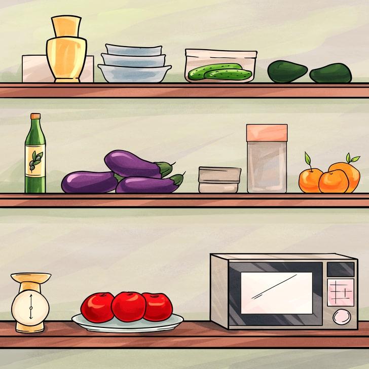 Продукты, которые можно хранить на кухонной полке или на столе