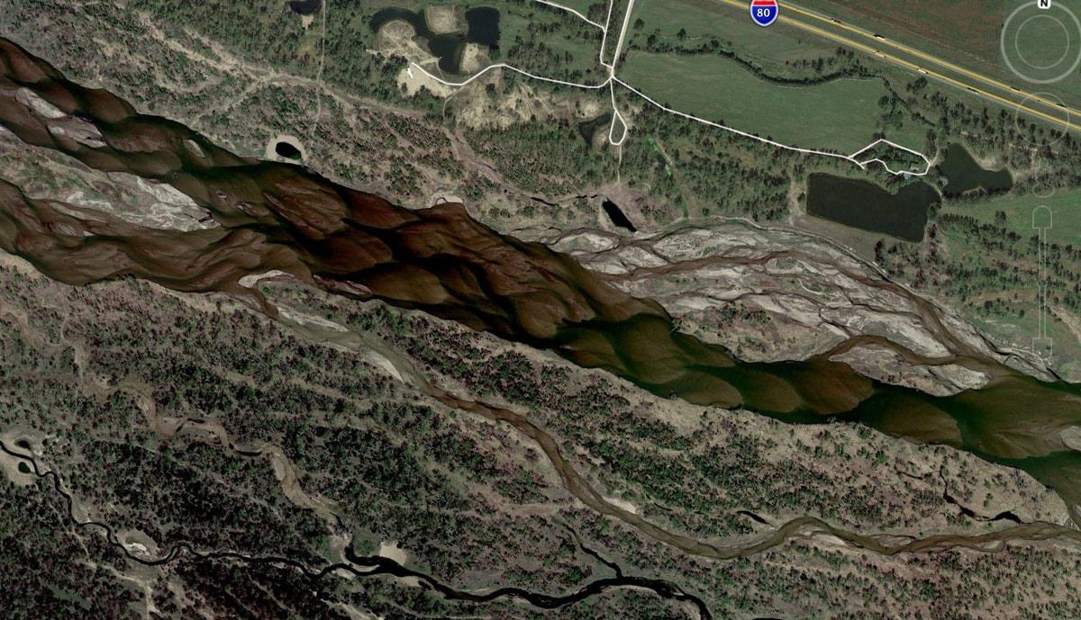 Река Платт в Небраске