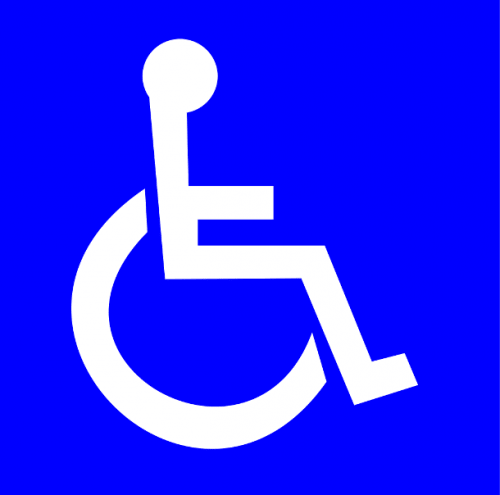 Символ человека на инвалидной коляске