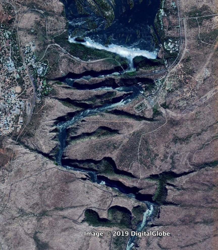 Водопад Виктория и река Замбези
