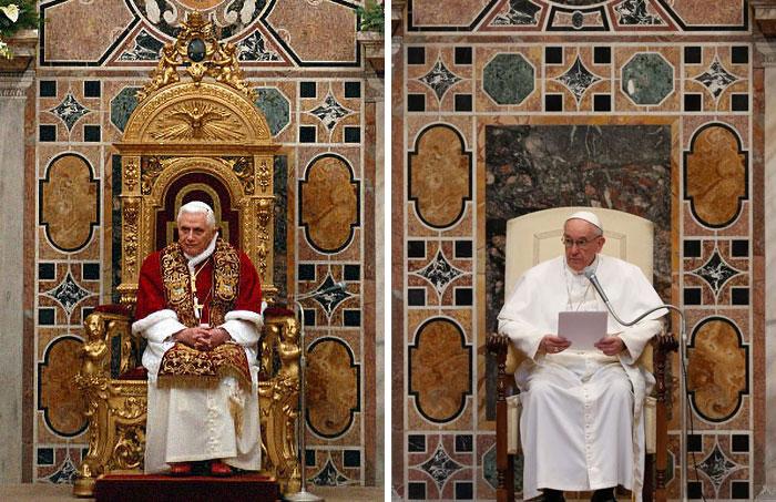 Папа Бенедикт XVI и Папа Франциск