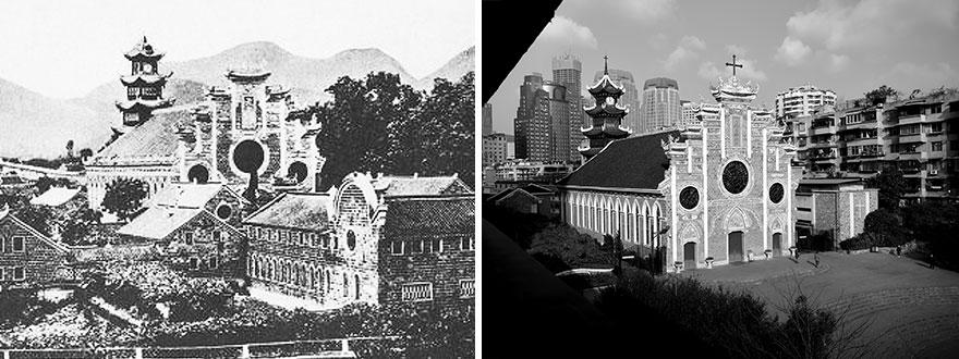 Город Гуйян в 1920 и 2016 годах